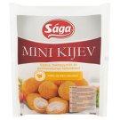 Sága Mini Kijev fokhagymás-sajttal töltött, panírozott, gyorsfagyasztott pulyka és csirke hús 250 g