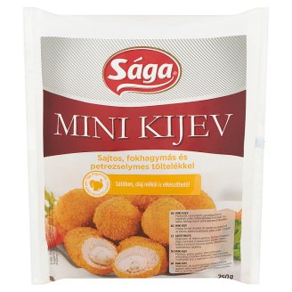 Sága Mini Kijev Breaded, Quick-Frozen Turkey and Chicken Meat Filled with Garlic Cheese 250 g
