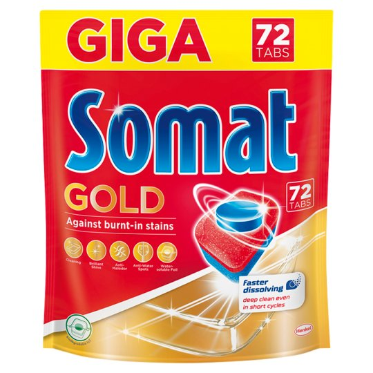 Somat Gold Dishwasher Tabs 72 pcs 1382,4 g