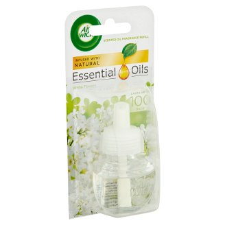 Air Wick Essential Oils Fehér Frézia Virág utántöltő elektromos légfrissítőhöz 19 ml