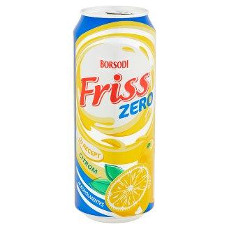 Borsodi Friss Zero citromos ital és alkoholmentes világos sör keveréke 0,5% 0,5 l