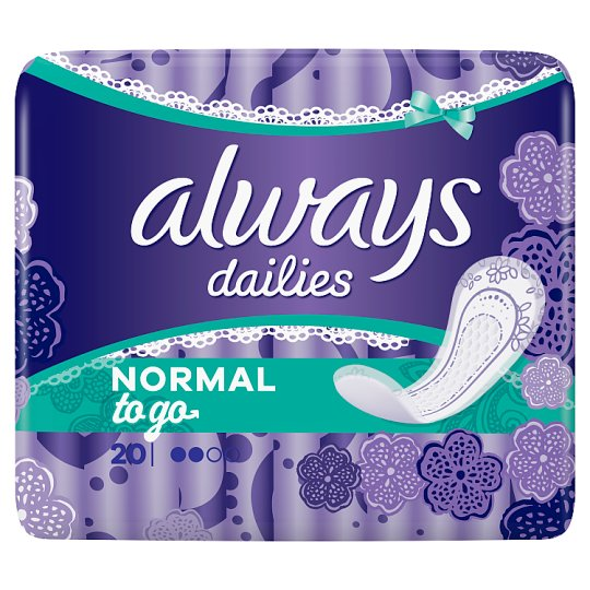 Always Dailies Singles To Go Tisztasági Betét, 20 db