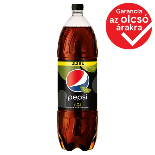Pepsi Black Cola Flavoured Energy-Free Carbonated Drink with Sweeteners and Lime Taste 2,25 l