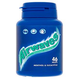Airwaves mentol- és eukaliptuszízű cukormentes rágógumi édesítőszerrel 46 db 64 g