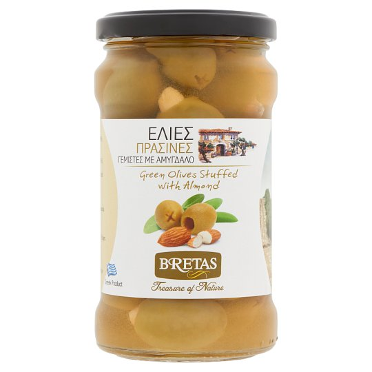 Bretas Green Olives Stuffed with Almond 300 g