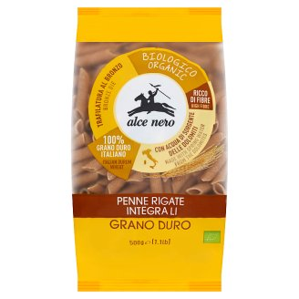 Alce Nero Penne Rigate Organic Whole Durum Wheat Pasta 500 g
