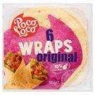 Poco Loco Original lágy tortilla lapok búza- és kukorica lisztből 6 db 380 g