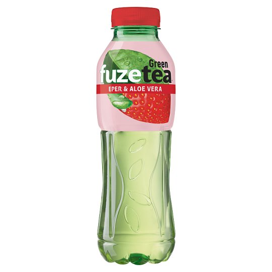 FUZETEA Non-Carbonated Strawberry-Aloe Vera Flavoured Soft Drink with Sugar and Sweetener 500 ml