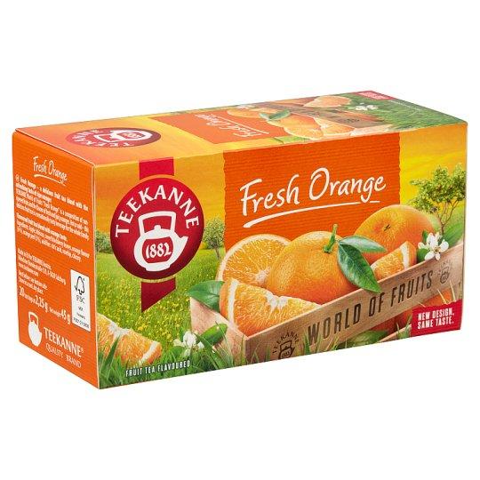 Teekanne World of Fruits Fresh Orange narancsízesítésű gyümölcstea keverék 20 filter 45 g
