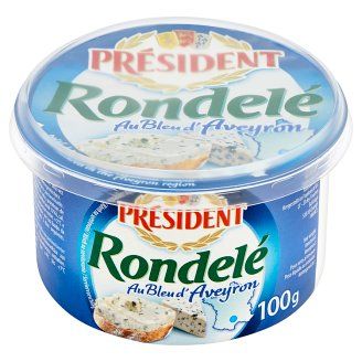 Président Rondelé au Bleu d'Aveyron Fat Soft Cheese 100 g