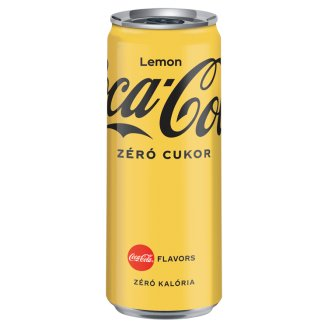 Coca-Cola Zero Cola and Lemon Flavor Energy-Free Carbonated Soft Drink with Sweeteners 330 ml