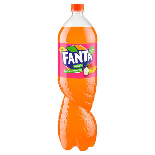 Fanta Mango & Dragon Fruit Flavoured Carbonated Soft Drink with Sugar and Sweetener 1,75 l