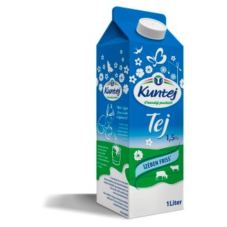 Kuntej kunsági zsírszegény tej 1,5% 1 l