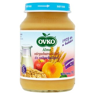 Ovko Apple with Peaches and Oatmeals Baby Dessert 5+ Months 190 g