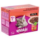Whiskas 1+ Classic Selection Complete Wet Pet Food for Adult Cats in Sauce 12 x 100 g