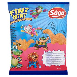 Sága Fini Mini Dinosaurs Breaded, Fully-Cooked, Quick-Frozen Chicken Breast Meat 800 g