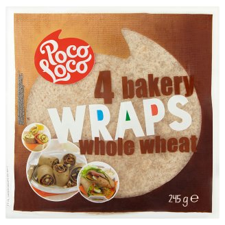 Poco Loco Whole Wheat Bakery Wraps 4 pcs 245 g