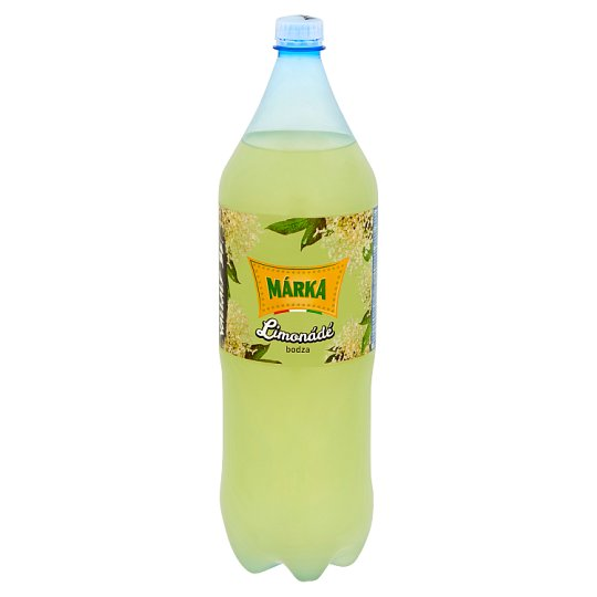 Márka Lemonade Elderberry Flavoured Carbonated Soft Drink with Sugar and Sweeteners 2 l