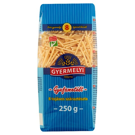 Gyermelyi Sticklets Dry Pasta with 8 Eggs 250 g