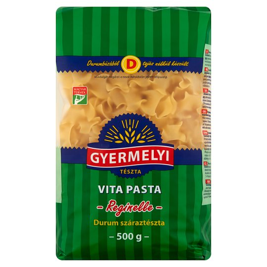 Gyermelyi Vita Pasta Frilly Squares Dried Pasta Made from Durum Wheat Semolina 500 g