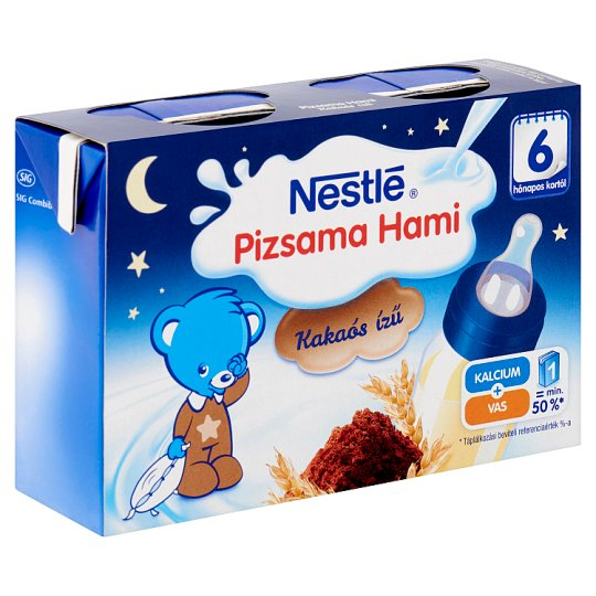 Nestlé Pizsama Hami Ready Made Liquid Cocoa Flavoured Baby Food with Cereals 6+ Months 2 x 200 ml