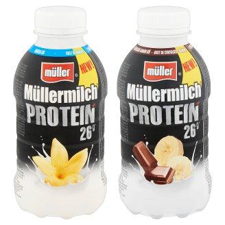 Müller Müllermilch Protein vanília ízű fehérjében gazdag zsírszegény tejital 376 ml