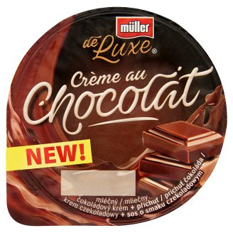 Müller de Luxe csokoládé puding csokoládé öntettel 150 g