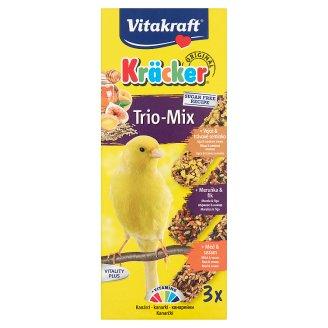 Vitakraft Kräcker Trio-Mix tojás & gyümölcs & méz kiegészítő eledel törpepapagájoknak 3 db 80 g