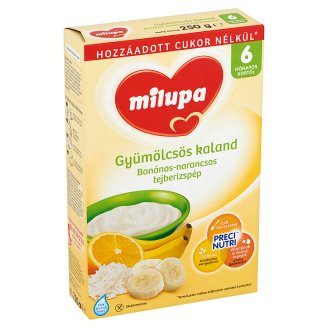 Milupa Gyümölcsös Kaland Banana-Orange Rice Pudding 6+ Months 250 g