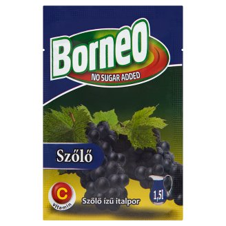 Borneo Grape Flavoured Drink Powder with No Added Sugar with Sweetener 9 g