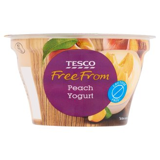 Tesco Free From Lactose-Free Yoghurt with Peach and Live Cultures 150 g