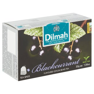 Dilmah Blackcurrant Flavoured Ceylon Black Tea 20 Tea Bags 30 g