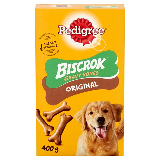 Pedigree Biscrok Gravy Bones ropogós kekszek ízletes bevonattal 400 g