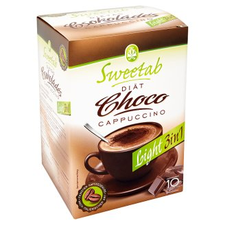 Sweetab Light 3in1 Diet Chocolate Flavoured Cappuccino 10 pcs 100 g