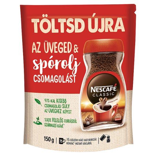 Nescafé Classic azonnal oldódó kávé utántöltő 150 g