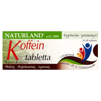 Naturland Caffeine Dietary Supplement Film-Coated Tablets 20 pcs 3,67 g