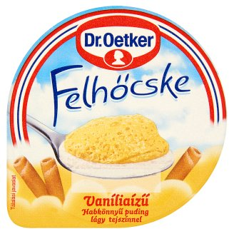Dr. Oetker Felhőcske Vanilla Flavoured Pudding with Whipped Cream 125 g