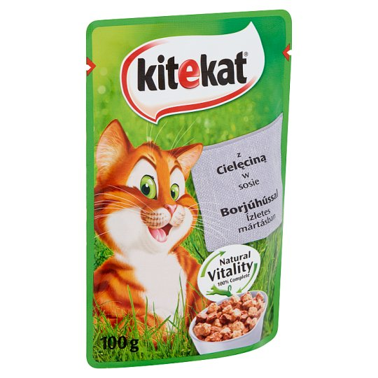 Kitekat Complete Pet Food for Adult Cats with Beef in Tasty Gravy 100 g