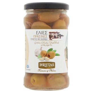 Bretas Green Halkidiki Olives Filled with Garlic 300 g