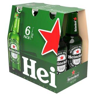 Heineken Premium Lager Beer 5% 6 x 250 ml Bottle