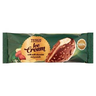 Tesco vaníliajégkrém tejcsokoládéba mártva, pörkölt földimogyoró darabokkal 120 ml