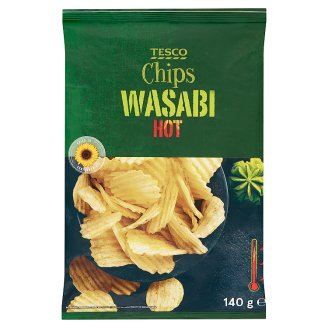 Tesco Wasabi Hot Chips 140 g