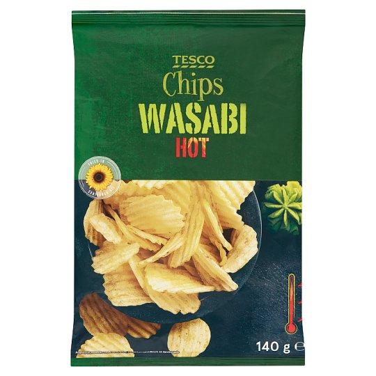 Tesco Wasabi Hot Chips 140 g