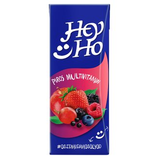 Hey-Ho Red Multivitamins Mixed Fruit Drink with Sugar, Sweetener and 7 Vitamins 0,2 l