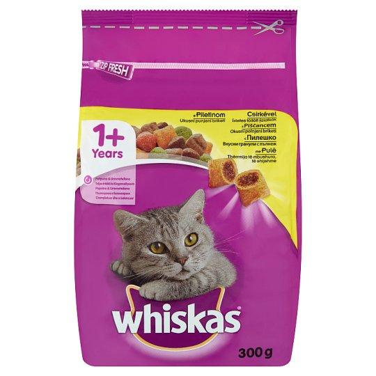 Whiskas 1+ Complete Pet Food for Adult Cats with Chicken 300 g