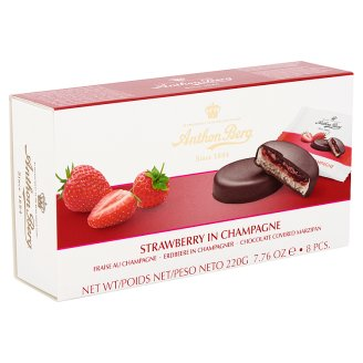 Anthon Berg Chocolate with Marzipan and Filling with Strawberry in Champagne 8 pcs 220 g