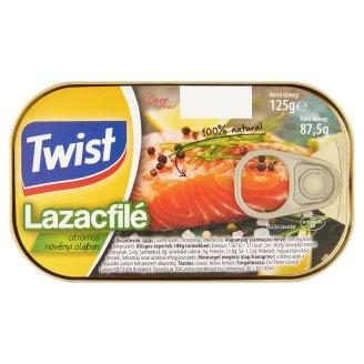Twist Salmon Fillet in Lemon Vegetable Oil 125 g