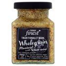 Tesco Finest egészmagos mustár fehérborral 175 g