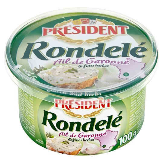 Président Rondelé Cheese Spread with Garlic and Herbs 100 g