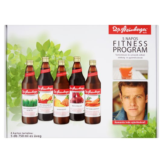 Dr. Steinberger 5 Day Fitness Program Vegetable and Fruit Juices 5 x 750 ml